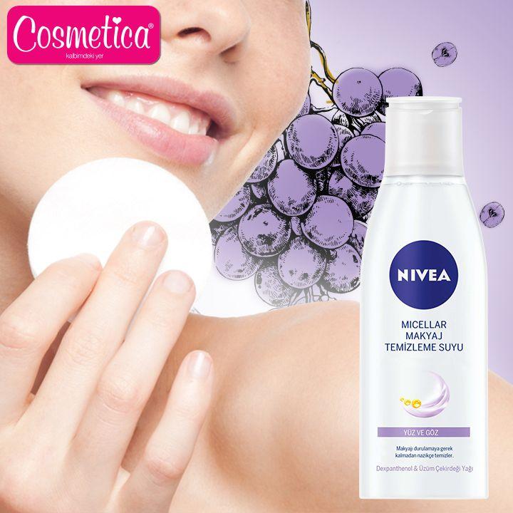 NIVEA Micellar Makyaj Temizleme Suyu ile makyajını temizlemek senin için artık keyif haline gelecek!