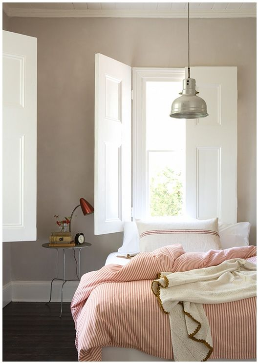 love the indoor shutters in this bedroom...goodbye dusty curtains, hello clean shutters and darkened morning hours!  You are soon to be mine!