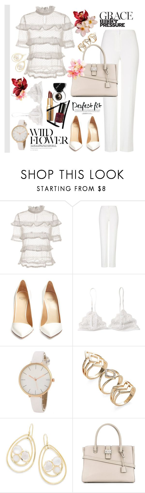 """My ruffles top"" by yara-mikhael-deeb on Polyvore featuring ESCADA, Francesco Russo, Ippolita, Michael Kors, all, Spring2017 and ruffledtops"