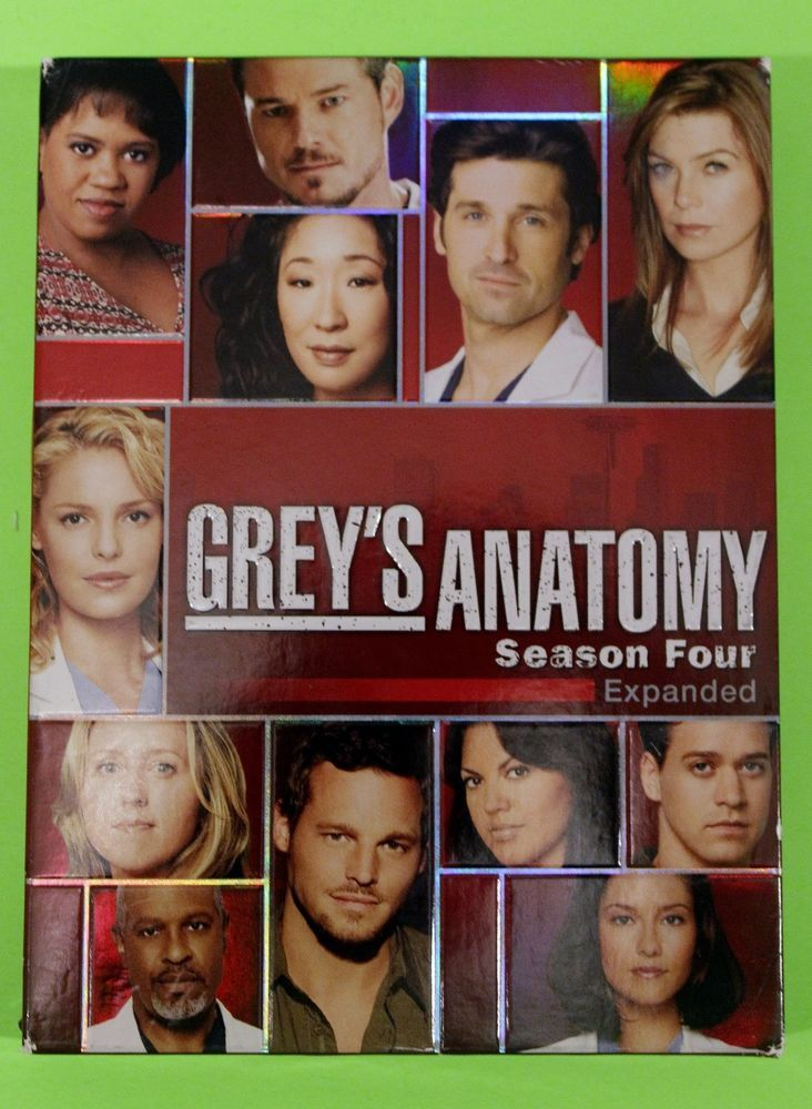 Grey's Anatomy The Complete Season 4 Four DVD Expanded Widescreen Edition Heigl