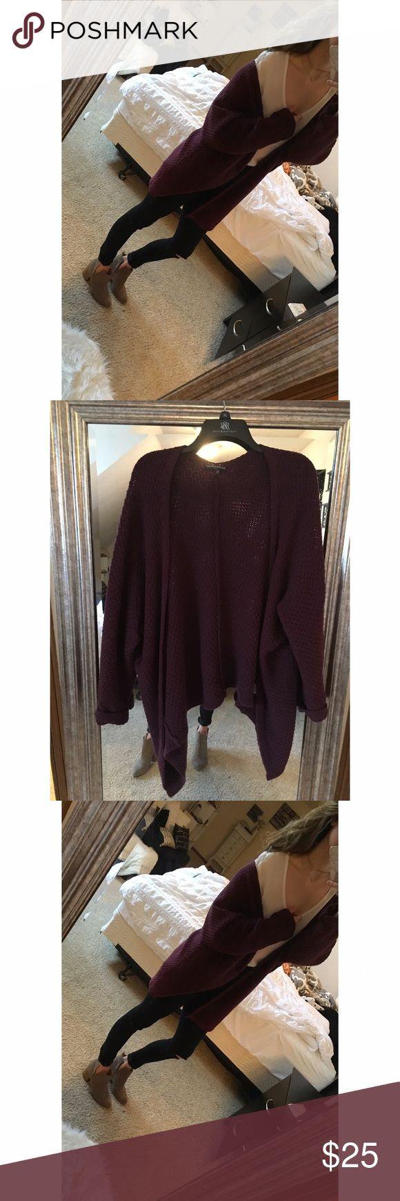 Brandy Melville cardigan Burgundy sweater cardigan. Worn very few times, no signs of wear. Great condition! ❌NO TRADES Brandy Melville Sweaters