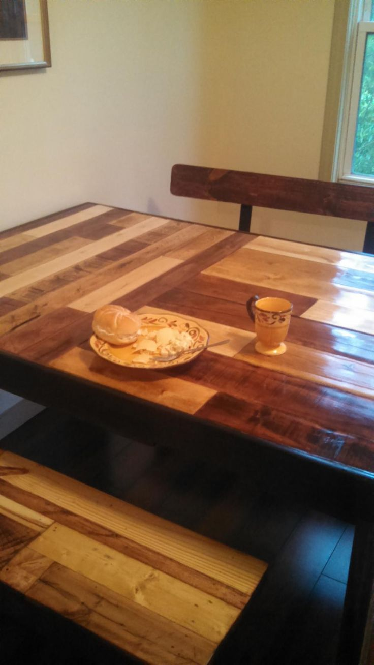 Kitchen Table Benches From Repurposed Pallets Pallet
