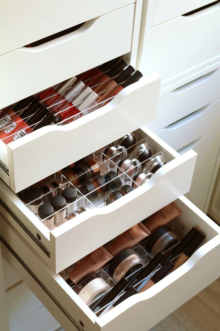 """Make-up Organizer/Acrylbox """"OneForAll"""" - 39 Fächer, individualisierbares Stecksystem, passgenau für den IKEA ALEX (Diy Storage Makeup)"""
