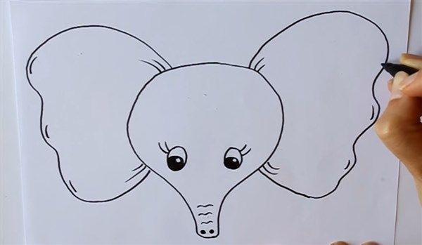 Resultado De Imagen Para Como Dibujar Unas Orejas De Elefante Con
