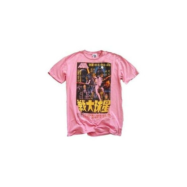 Junk Food Men's Star Wars Japanese T-Shirt (Pink) ❤ liked on Polyvore featuring men's fashion, men's clothing, men's shirts, men's t-shirts, tops, shirts, t-shirts, tees, mens t shirts and mens pink t shirt