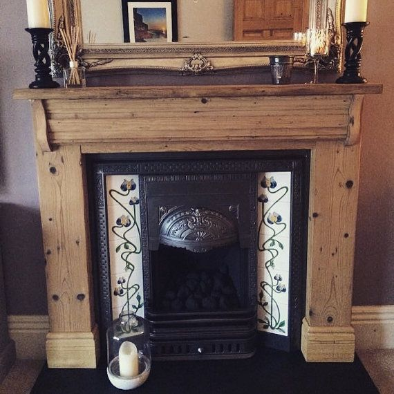 bespoke hand made reclaimed wood fireplace surround fire surround mantle hearth log - Fireplace Surround Ideas