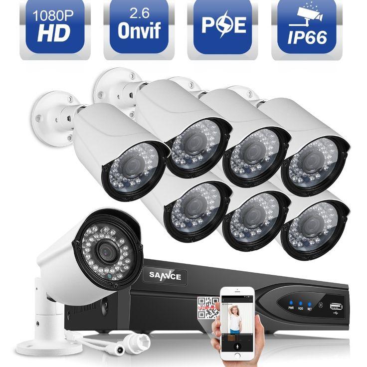 657.99$  Buy here - http://alicxa.worldwells.pw/go.php?t=32775594847 - SANNCE 8CH 1080P POE CCTV System full HD 1920*1080 8pcs 2.0MP PoE NVR IP camera home outdoor CCTV Recorder Surveillance kit  657.99$