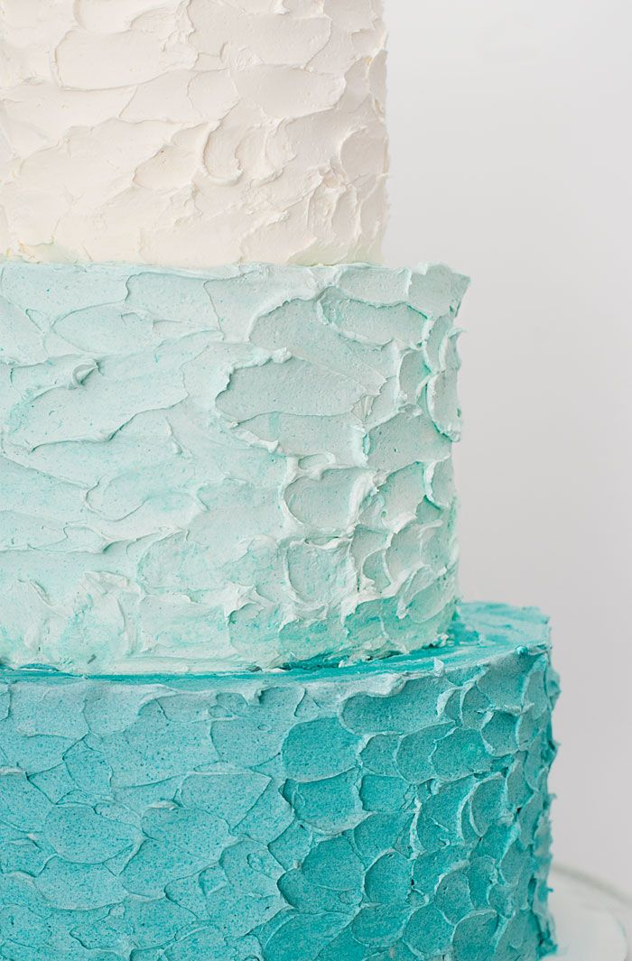 Sprinkles for Breakfast - ombre blue tiered cake #lifeoftheparty