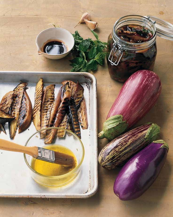 Grilled Eggplant in Pomegranate Dressing Recipe | Martha Stewart
