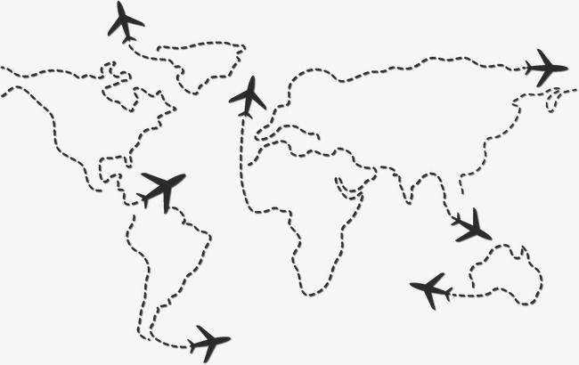 Mapa Del Mundo En Línea, Línea, Lineal, Mundo PNG y Vector