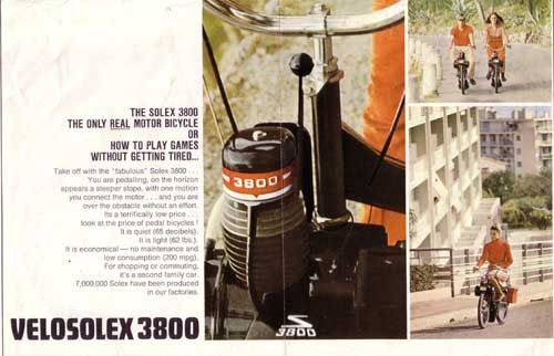 The solex 3800 the only real motor bicycle...