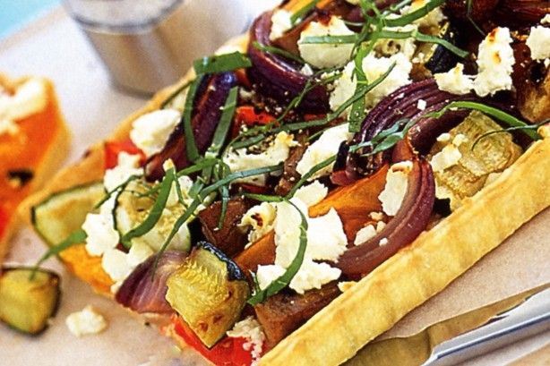 Clear out your crisper with this vegie-packed tart. It makes a delightful side dish or light lunch.