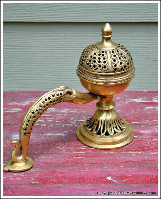 A Vintage barss incense holder. New at the Shop. Email anuseattle@gmail.com