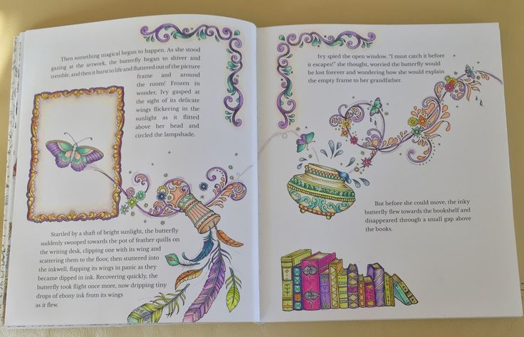 Johanna Basford Coloring Pages Colouring Ivy Butterflies Paint Printable Books