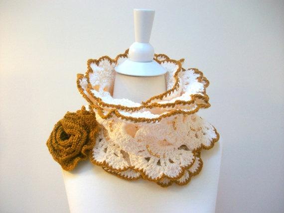 Handmade crochet  neckwarmer autumn women by PIPPADUSHES on Etsy, $49.00