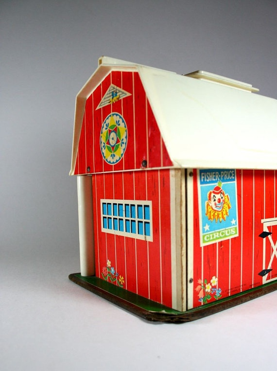 Vintage Fisher Price Barn - played with this ar my grandparent's house when I was little! When you open the doors, it makes animal noises!