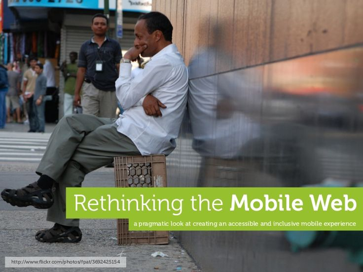 Rethinking the Mobile Web by Yiibu by Bryan Rieger on Sep 10, 2010 via Slideshare