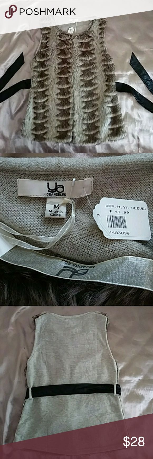 Ya Los Angeles faux fur vest Comes with faux leather belt Brand new     LIKE THIS ITEM BUT NOT THE PRICE?  🎉MAKE AN OFFER I ALMOST ALWAYS ACCEPT!!! Ya Los Angeles Jackets & Coats