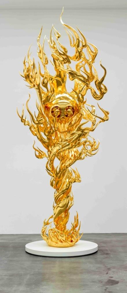 Takashi Murakami / Flame of Desire - Gold, 2013 / Height: 187 inches / Edition of 3, 2AP / ©2013 Takashi Murakami / Kaikai Kiki Co., Ltd