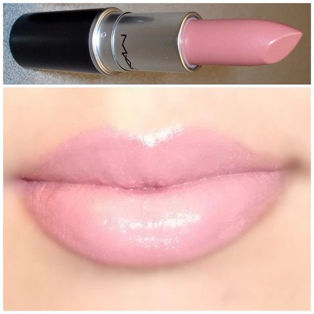 """MAC cremesheen-finish lipstick in (Creme Cup) - {A girlie creamy pink shade. Suits all skin tones beautifully. Looks great with both heavy and minimal…"""