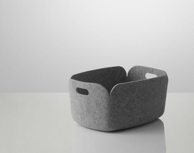 Koš Restore od Muuto, šedý | DesignVille