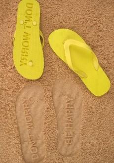 Don't Worry Be Happy Flip Flops by FlipSide Flip Flops
