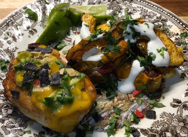 Tortilla Chicken with Elote Style Acorn Squash #homechef
