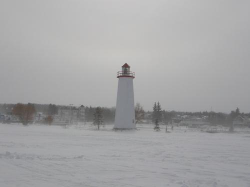 Sylvan Lake, Alberta: lighthouse in the winter