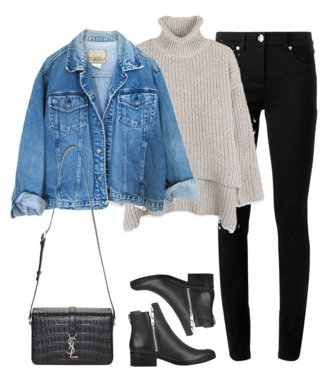 """""""Untitled #1878"""" by londoniscallingme ❤ liked on Polyvore featuring Versace, 3.1 Phillip Lim and Yves Saint Laurent"""