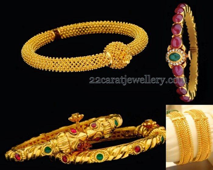 Jewellery Designs: Gold Bangles in Latest Design