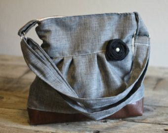 Conceal Carry Purse, Medium Messenger Bag, Grey Conceal Carry, Conceal Carry Handbag, Concealed Carry Purse, Conceal and Carry, Dark Grey
