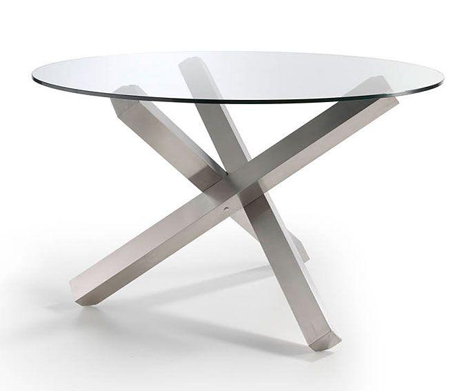 Mesa Redonda de cristal Vedaric   Material: Cristal   Material: y acero cromado.... Eur:770 / $1024.1