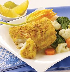 POTATO CRUSTED COD. Top crusted with a combination of cheddar and blue cheeses, chives, herbs and panko-style bread crumbs.  4-5 Portions. #mmmeatshops