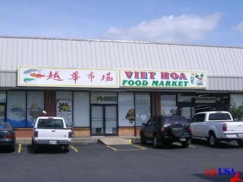 Vietnamese grocery store/market and restaurant. Takeout is at the back.