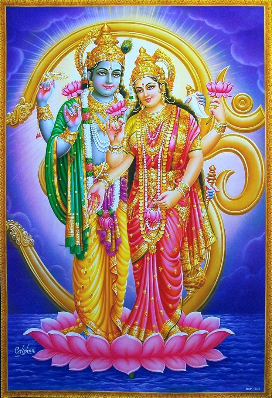 lord vishnu with laxmi - photo #11