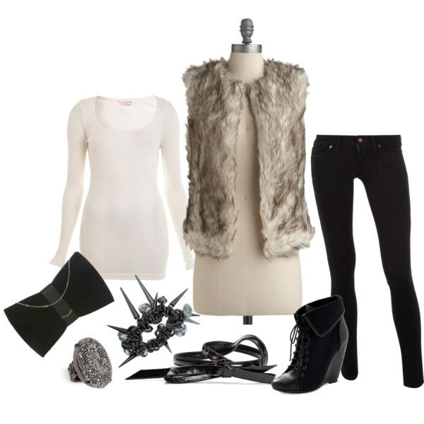 soft fur, edgy accessories.Fur Vest