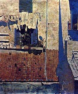 A Casa de Persianas Azuis. Encontra-se no Museu Nacional Soares dos Reis no Porto.