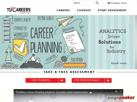 Our career test actually builds a psychometric model of who you are and matches you against career data we collect from multiple sources and thus recommend you best suited career options for you.Tucareers can help you find your perfect career. Explore hundreds of careers and discover your matches and personality traits with our free career test.