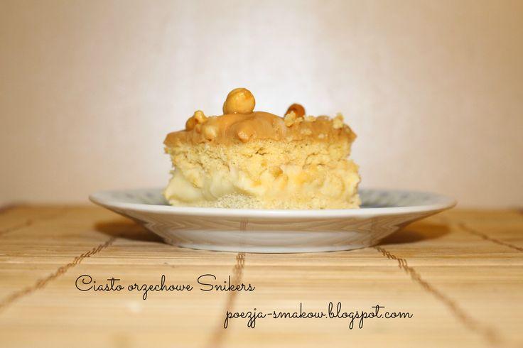 Ciasto orzechowe Snikers (z orzeszkami ziemnymi solonymi) - najlepsze!