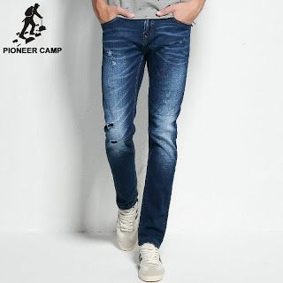 Pioneer Camp 2017 ripped jeans mens brand clothing fashion stretch denim pants top quality casual slim fit biker jeans for men (32446381807)  SEE MORE  #SuperDeals