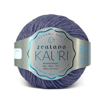 Zealana KAURI Worsted K07 Blue Moana