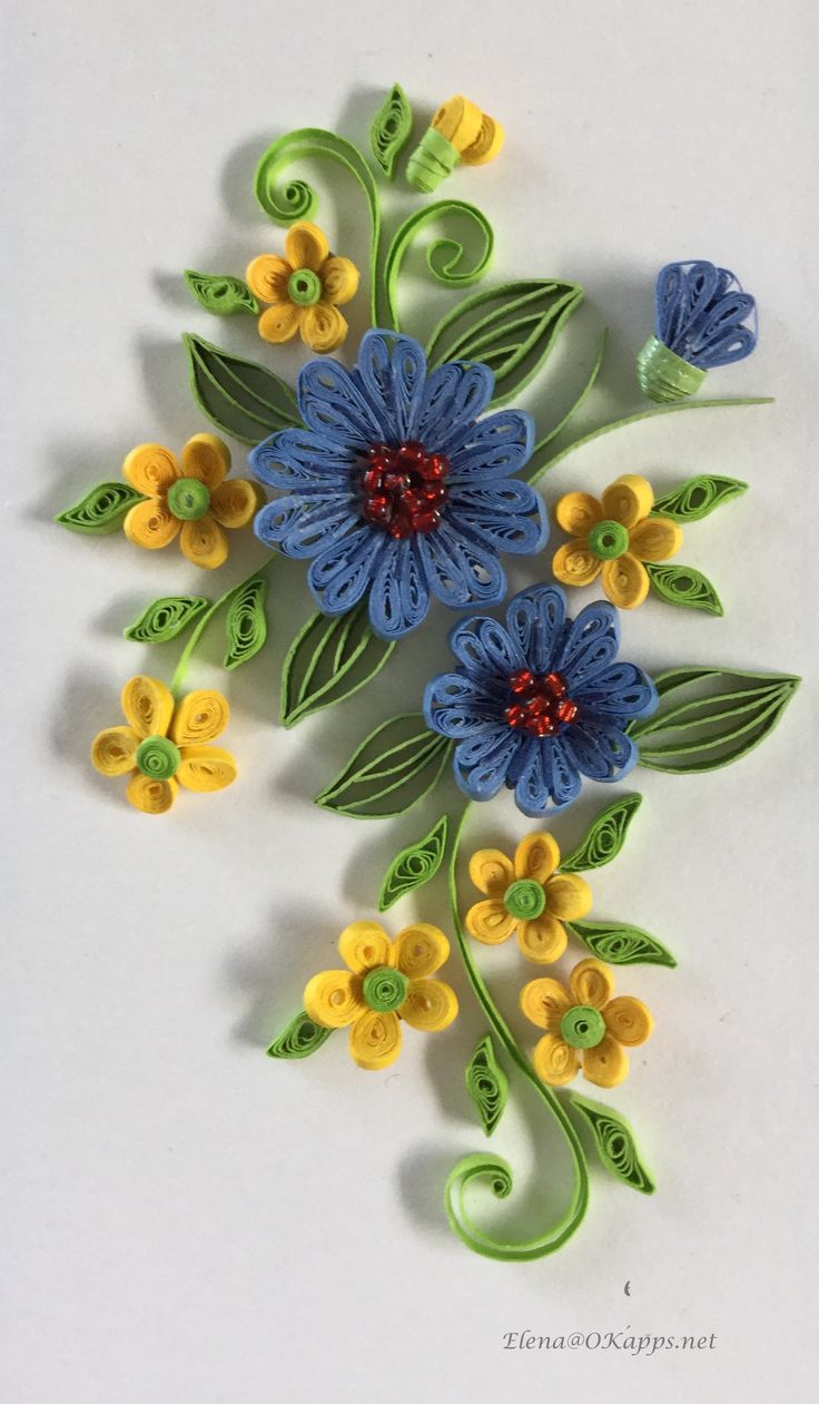 ** Quilling - květiny **