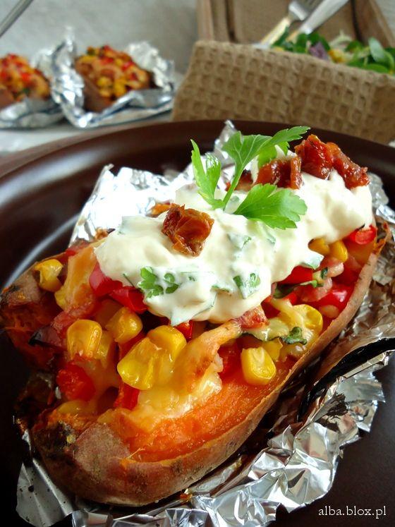Pieczone ziemniaki, ziemniaki pieczone przepis, ziemniki faszerowane, ziemniaki…