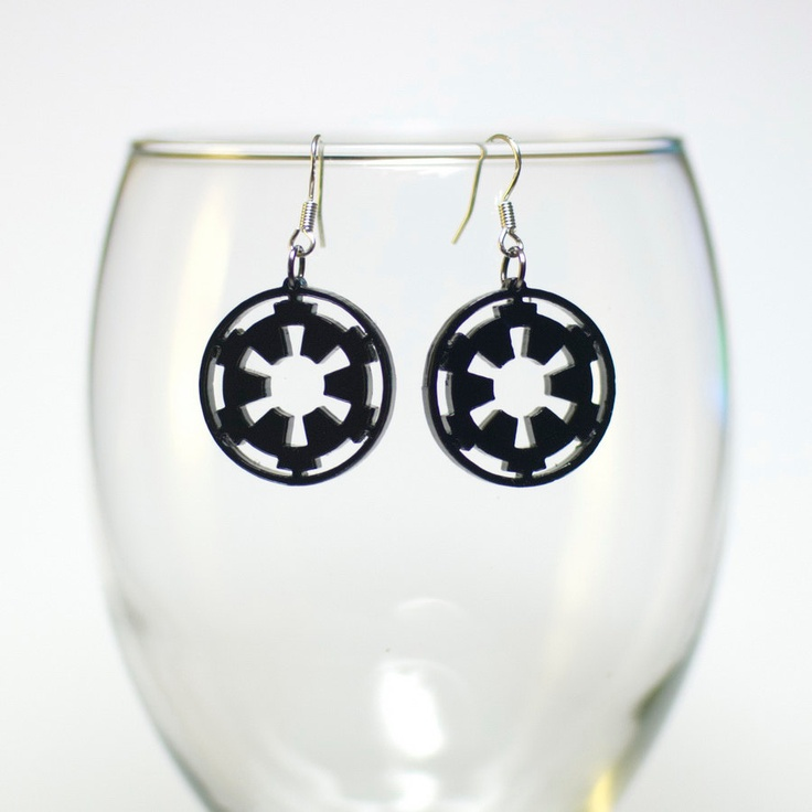 Star Wars: The Old Republic  Galactic Empire Earrings. This makes me wanna get my ears pierced