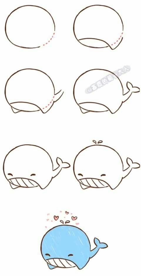 How to draw a whale step by step #draw #whale #art…