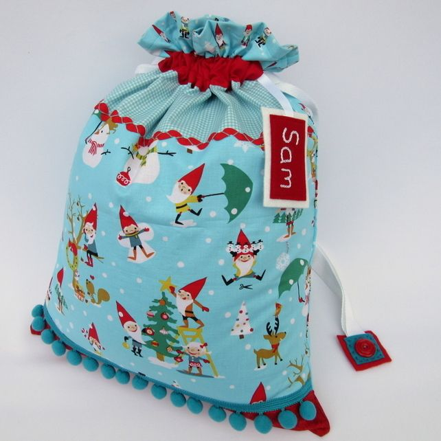 Personalised Santa Sack - Santa's Elves Christmas Present Sack £35.00