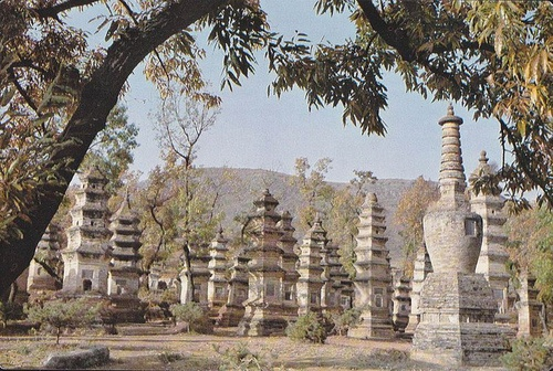 """Historic Monuments of Dengfeng in """"The Centre of Heaven and Earth"""" - The Stupas Forest of Shaolin Monastery          An UNESCO World Heritage Site at Dengfeng City of Henan Province."""