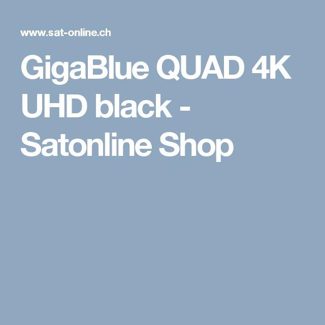 GigaBlue QUAD 4K UHD black - Satonline Shop