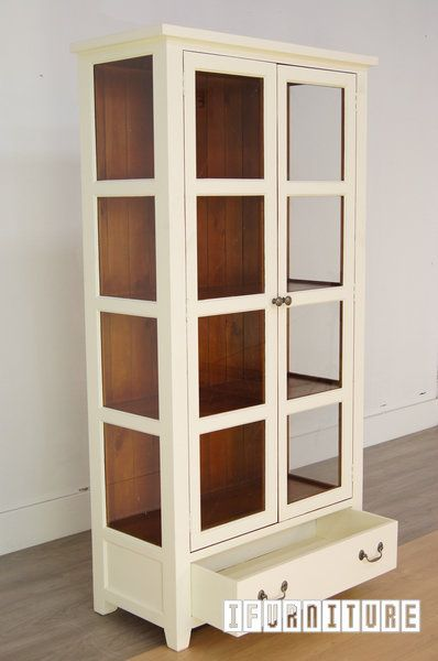 MACQUARIE Display Cabinet In Two Tone Color Shelf NZs Largest Furniture Range