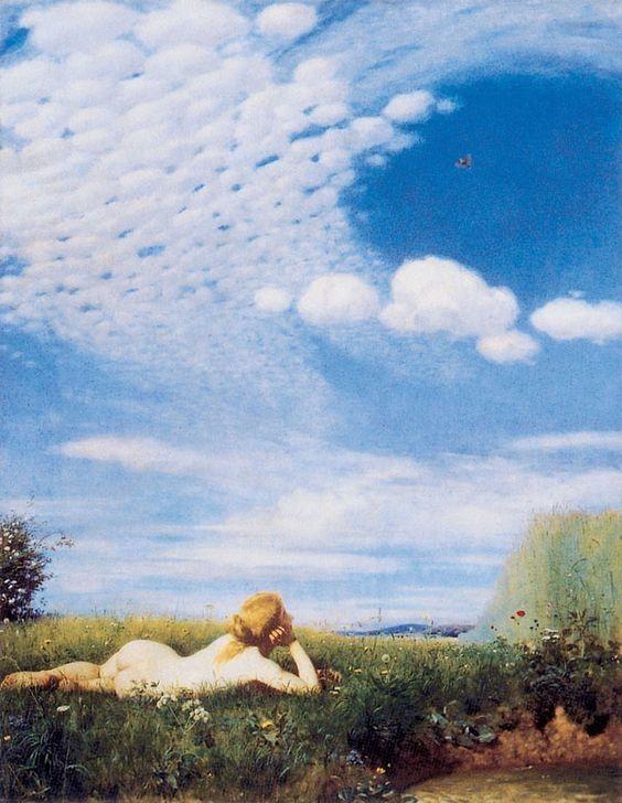 Pál Szinyei Merse (Hungarian, 1845-1920): The Sky Lark, 1882